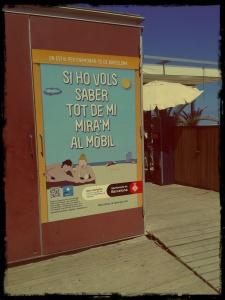 barcelona y sus playas con nuevas tecnologias