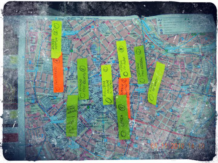 mapa viaje viena