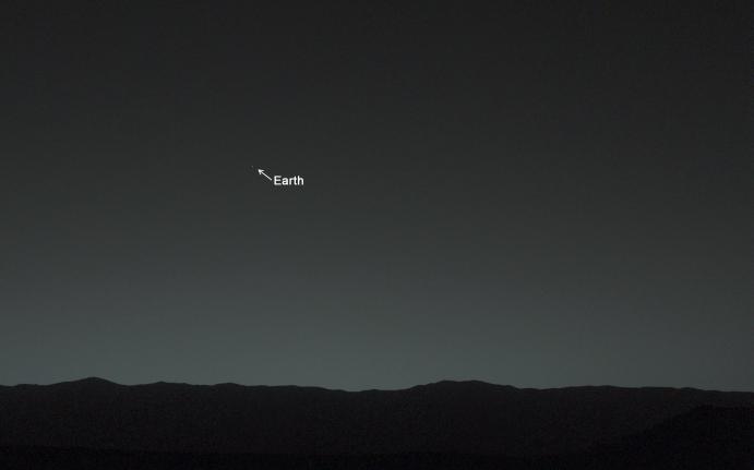 vista de la tierra desde marte